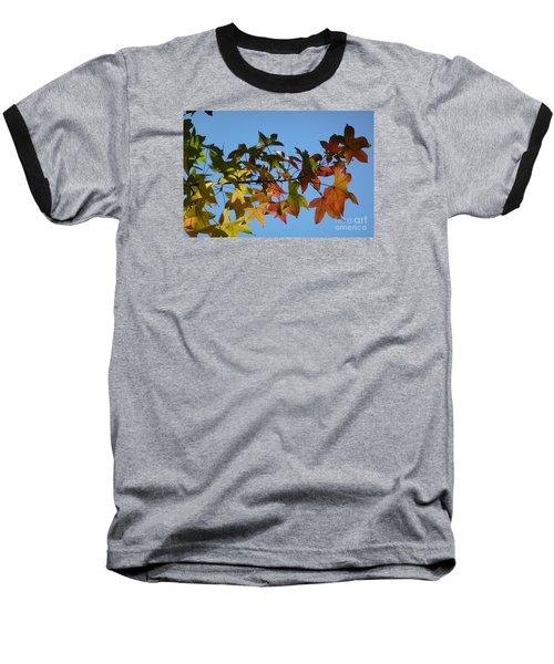 Baseball T-Shirt featuring the photograph Autumn Leaves by Jean Bernard Roussilhe