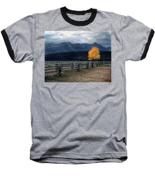 Autumn Light Baseball T-Shirt by Leland D Howard