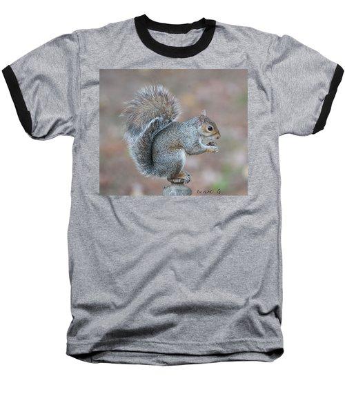 Autumn Squirrel Baseball T-Shirt