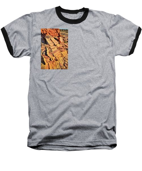 Baseball T-Shirt featuring the photograph Bands Of Color In Valley Of Fire by Ray Mathis