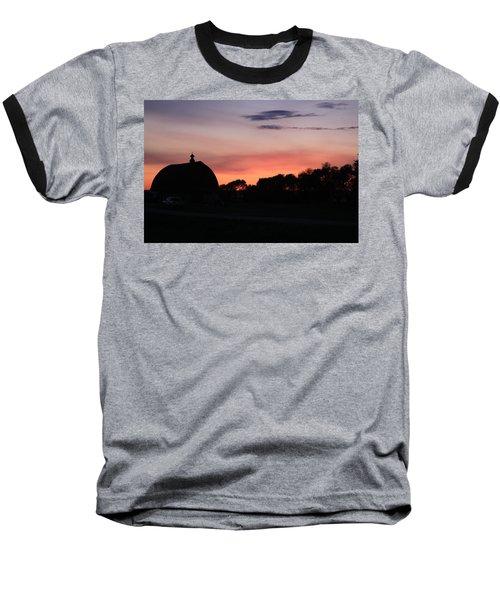 Barn Sunset Baseball T-Shirt