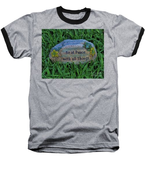 Baseball T-Shirt featuring the photograph 2- Be At Peace by Joseph Keane