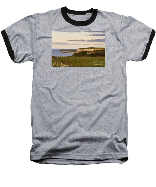 Bempton Cliffs Baseball T-Shirt by David  Hollingworth