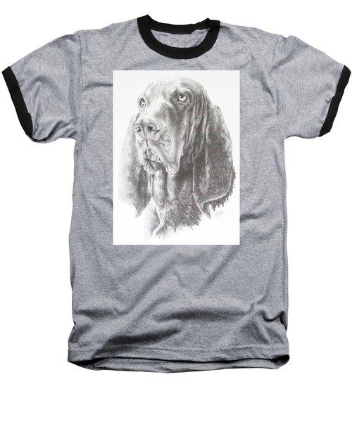 Black And Tan Coonhound Baseball T-Shirt by Barbara Keith