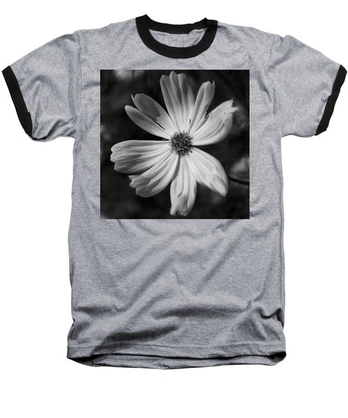 Baseball T-Shirt featuring the photograph Black And White Flower  by Kevin Blackburn
