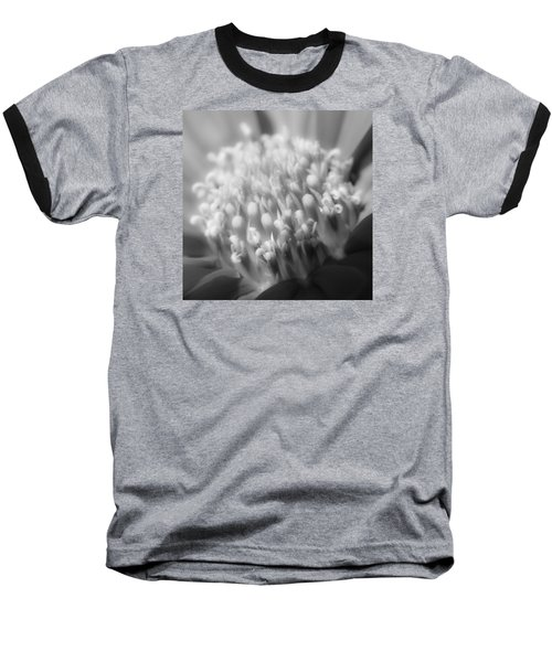 Black And White Flowers Baseball T-Shirt