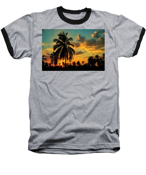 Blazing Sunset Baseball T-Shirt