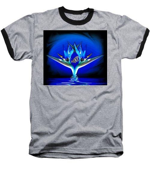 Blue Bird Of Paradise Baseball T-Shirt