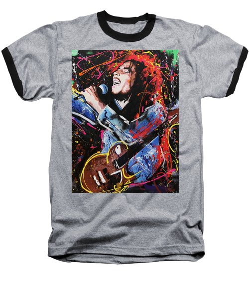 Bob Marley Baseball T-Shirt by Richard Day