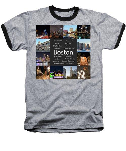 Boston Ma Collage Baseball T-Shirt