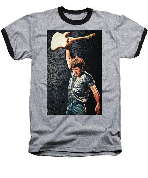 Bruce Springsteen Baseball T-Shirt by Taylan Apukovska