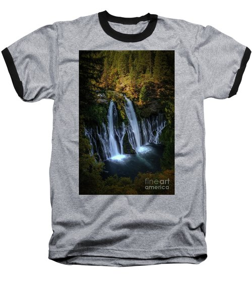 Baseball T-Shirt featuring the photograph Burney Falls by Kelly Wade