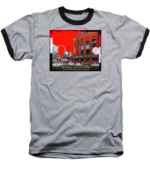 Baseball T-Shirt featuring the photograph Busch Stadium - Saint Louis Missouri by John Freidenberg
