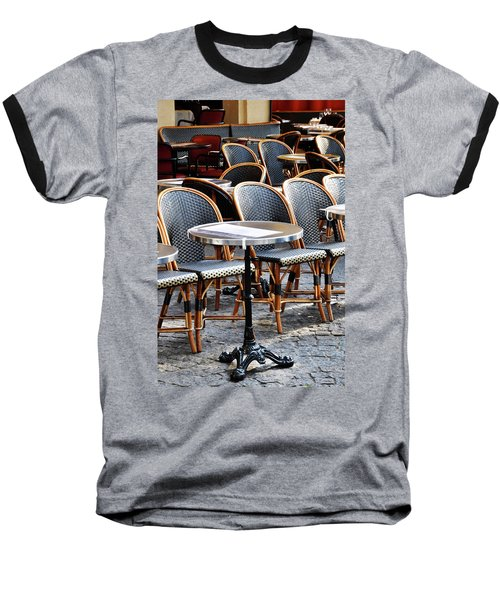 Cafe Terrace In Paris Baseball T-Shirt