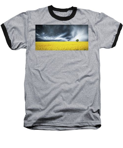 Baseball T-Shirt featuring the photograph Canola Field by Bess Hamiti