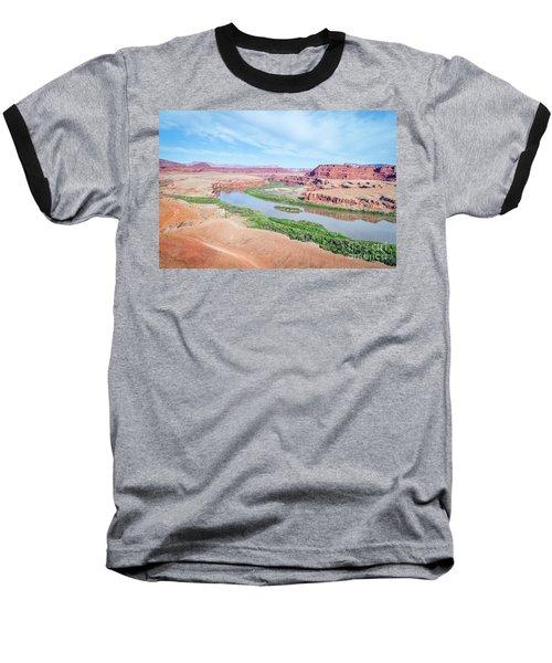 Canyon Of Colorado River In Utah Aerial View Baseball T-Shirt