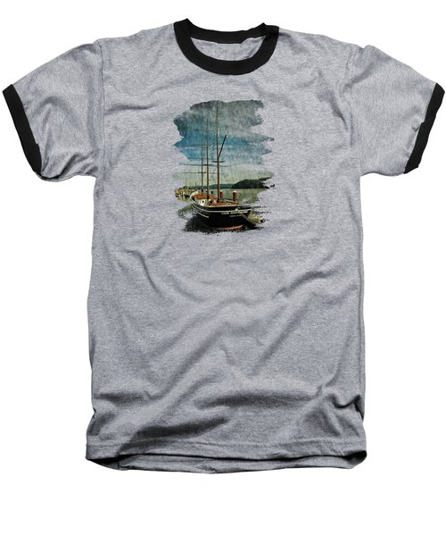 Cape Foulweather Tall Ship Baseball T-Shirt by Thom Zehrfeld