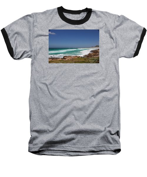 Capetown Peninsula Beach  Baseball T-Shirt by Bev Conover