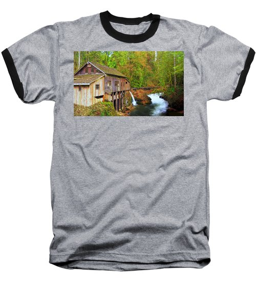 Cedar Creek Grist Mill Baseball T-Shirt by Steve Warnstaff