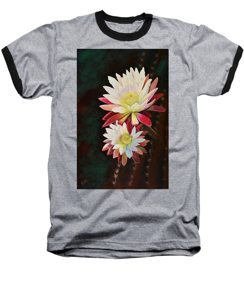 Baseball T-Shirt featuring the painting Cereus Business by Marilyn Smith