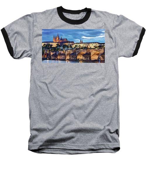 Charles Bridge And Prague Castle / Prague Baseball T-Shirt
