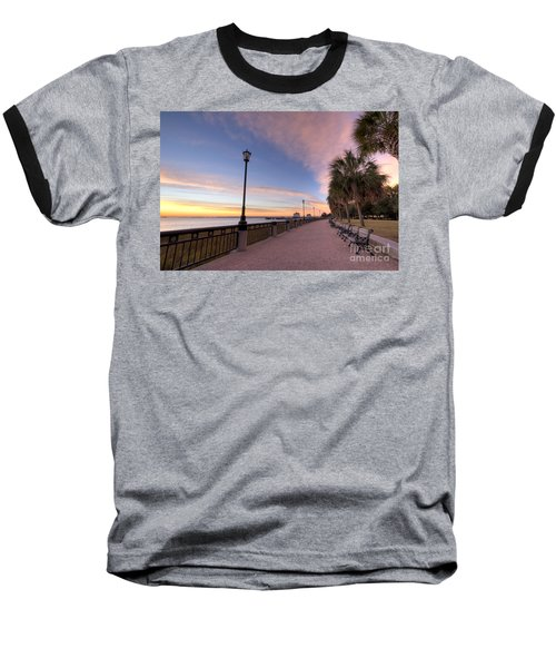 Charleston Waterfront Park Sunrise  Baseball T-Shirt