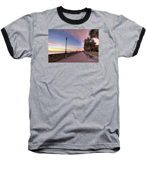 Charleston Waterfront Park Sunrise  Baseball T-Shirt