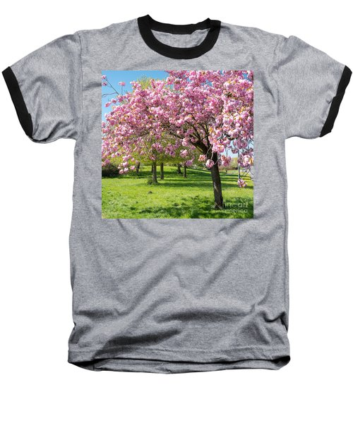 Cherry Blossom Tree Baseball T-Shirt