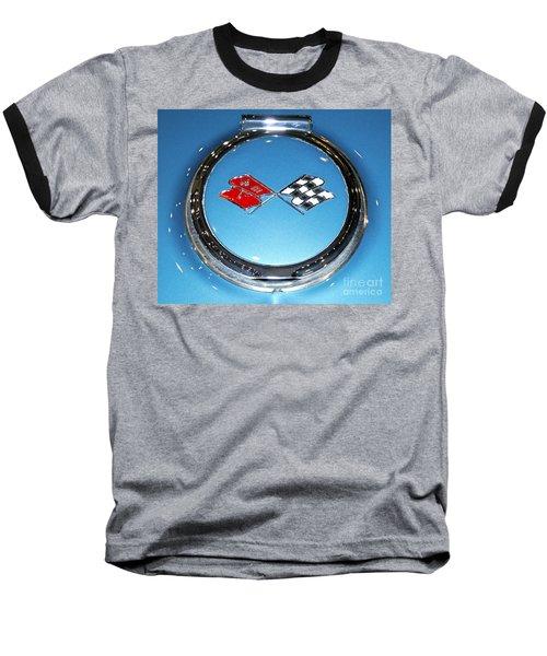 Chevy Corvette Baseball T-Shirt by Pamela Walrath