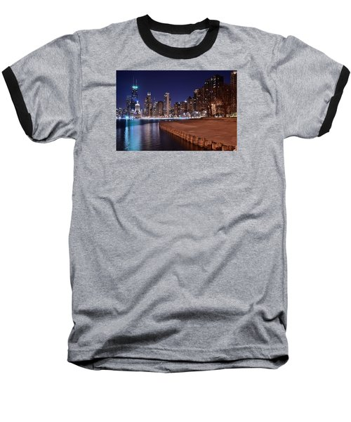 Chicago From The North Baseball T-Shirt by Frozen in Time Fine Art Photography