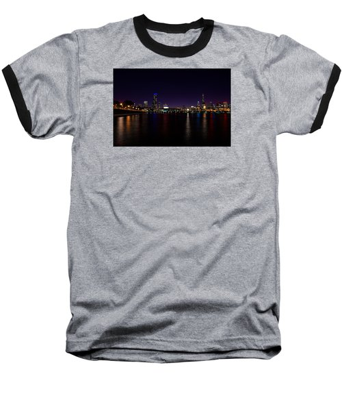 Baseball T-Shirt featuring the photograph Chicago-skyline 2 by Richard Zentner