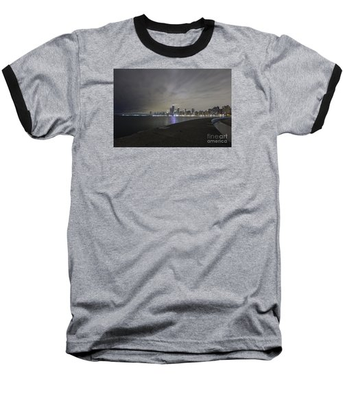 Baseball T-Shirt featuring the photograph Chicago Skyline At Night by Keith Kapple