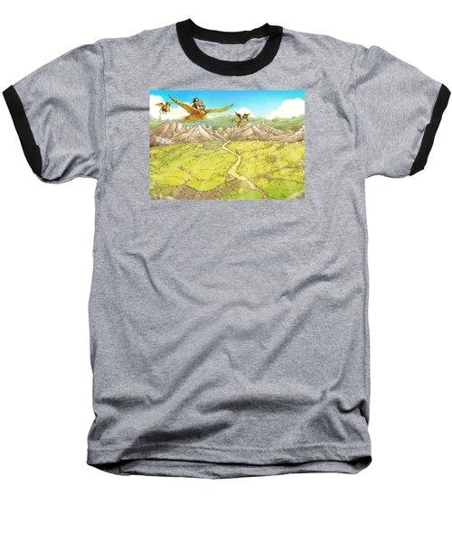 Chiricahua Mountains Baseball T-Shirt by Reynold Jay