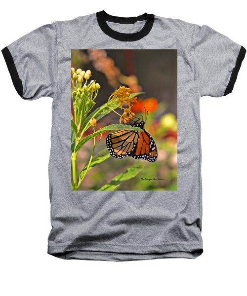 Clinging Butterfly Baseball T-Shirt