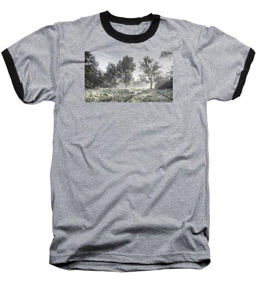 Colorful Autumn Landscape Baseball T-Shirt by Odon Czintos