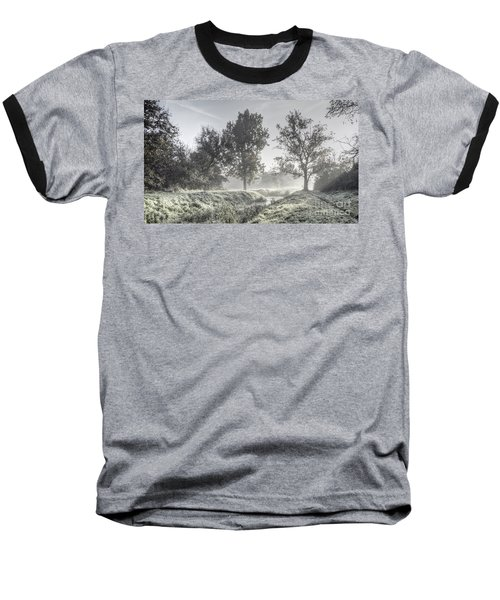 Colorful Autumn Landscape Baseball T-Shirt