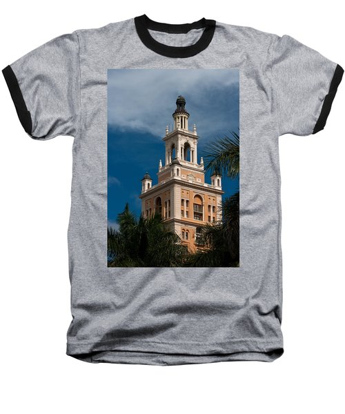 Coral Gables Biltmore Hotel Tower Baseball T-Shirt