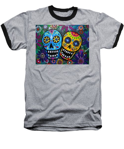 Couple Day Of The Dead Baseball T-Shirt