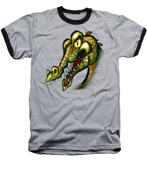 Crocodile Baseball T-Shirt by Kevin Middleton