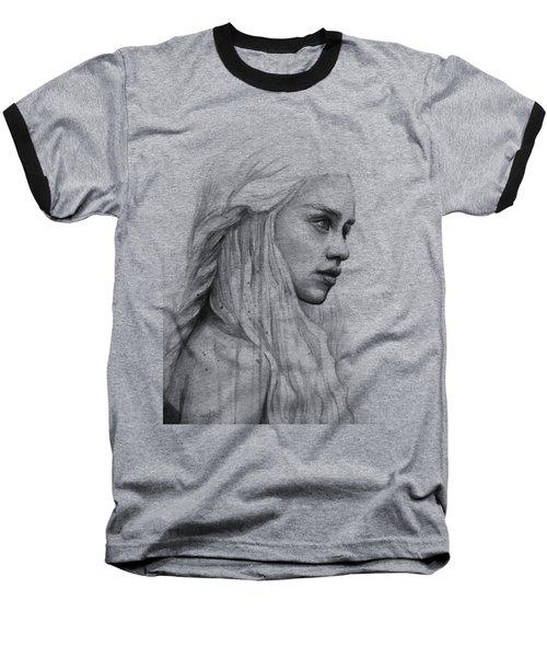 Daenerys Watercolor Portrait Baseball T-Shirt