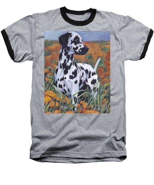 Baseball T-Shirt featuring the painting Dalmatian by Lee Ann Shepard