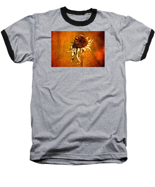 Dead Flower Baseball T-Shirt by Andre Faubert