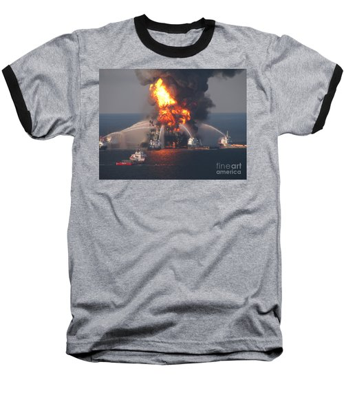 Deepwater Horizon Fire, April 21, 2010 Baseball T-Shirt