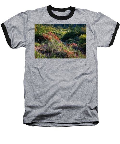 Baseball T-Shirt featuring the photograph Desert Wildflowers  by Saija Lehtonen