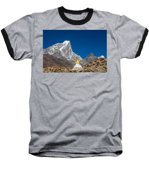 Dingboche Stupa In Nepal Baseball T-Shirt