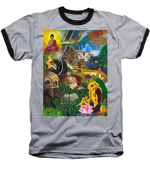 Discover India Baseball T-Shirt