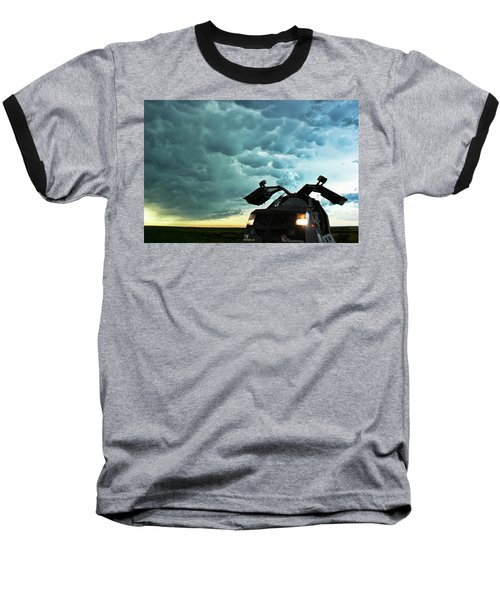 Dominating The Storm Baseball T-Shirt by Ryan Crouse
