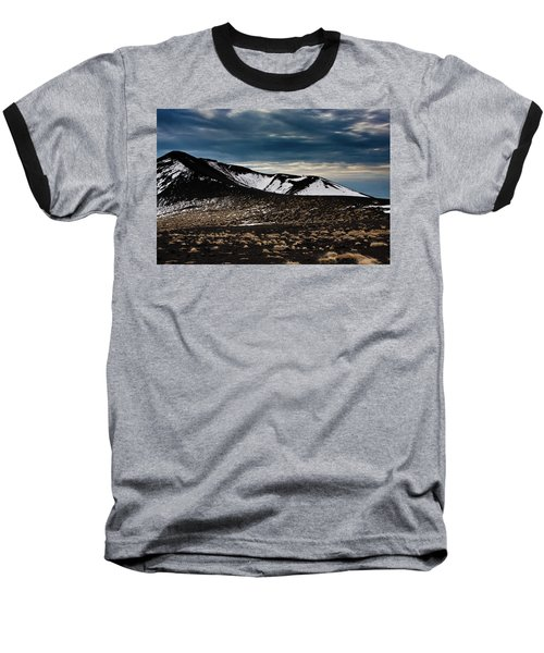 Etna, Red Mount Crater Baseball T-Shirt