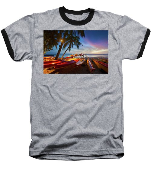 Evening Falls Baseball T-Shirt