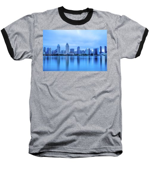 Feeling Blue Baseball T-Shirt by Joseph S Giacalone